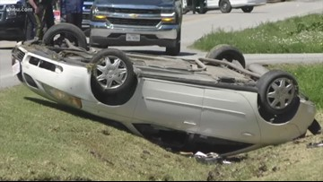 Chase ends with flipped car, arrest of 2 teens in Galveston County