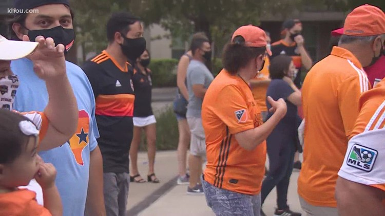 Fans attend Dynamo home game for the first time in months