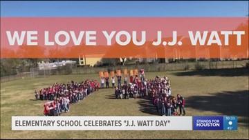 Elementary school celebrates 'J.J. Watt Day'
