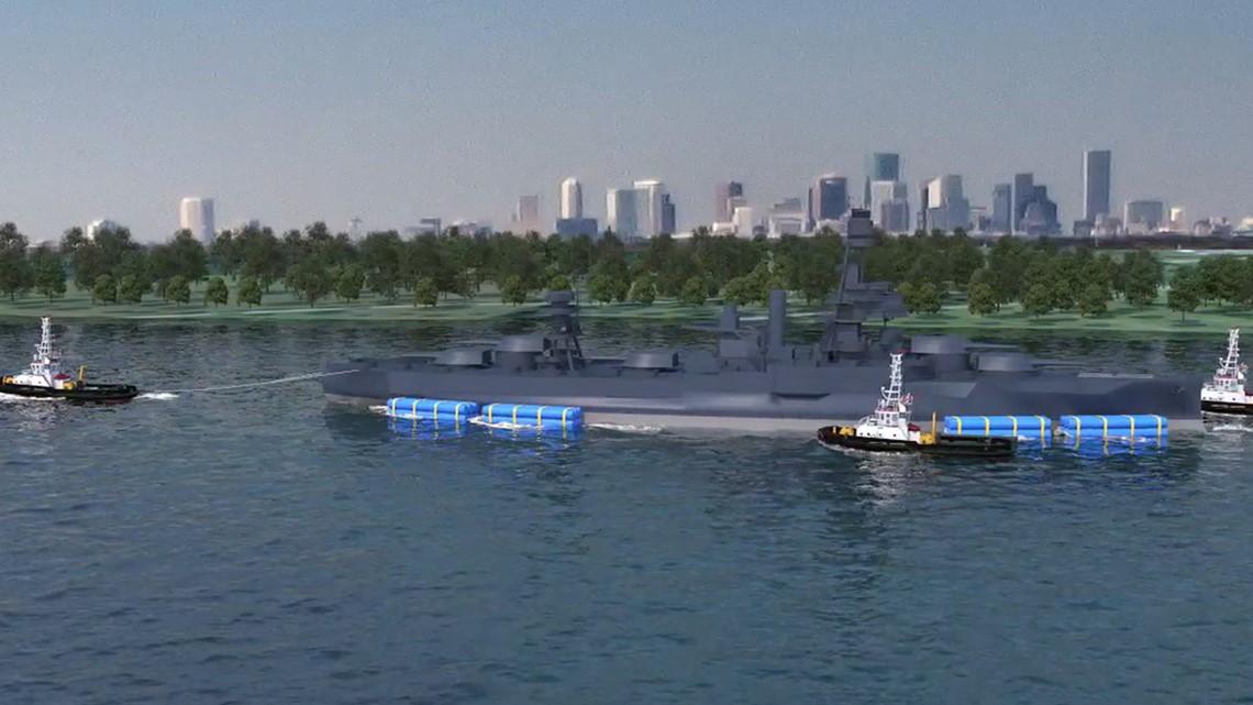 battleship texas won u0026 39 t sink during tow and it will return