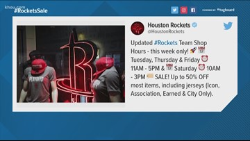 With Rockets' season over, team store offering discounted items