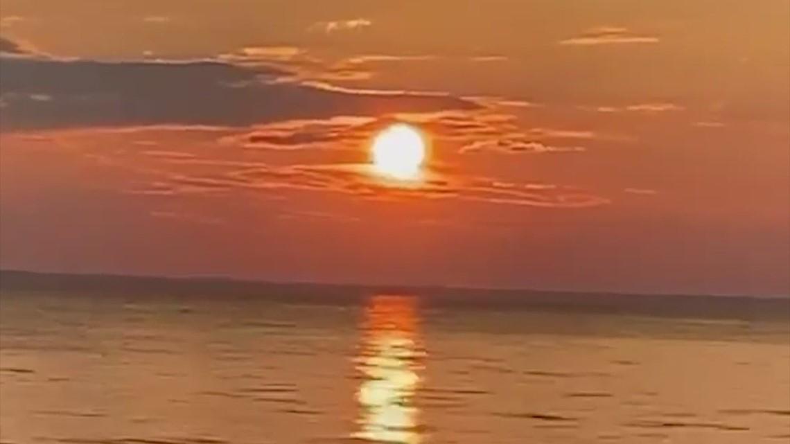 Beautiful Moment of Zen of a Lake Livingston Fourth of July sunset