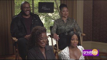 "Tyler Perry and cast talk their new movie ""A Fall From Grace"""