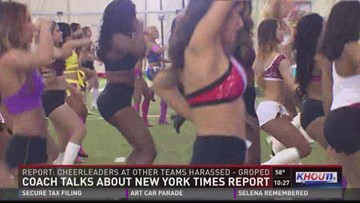 Hundreds try out to be a Texans cheerleader