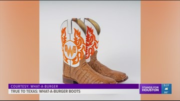 Randy Rogers receives one-of-a-kind Whataburger boots
