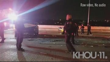 Raw: Fatal wrong-way crash kills innocent driver on I-45