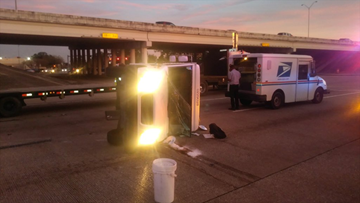 18 Wheeler Ups Truck Collide On West Sam Houston Parkway