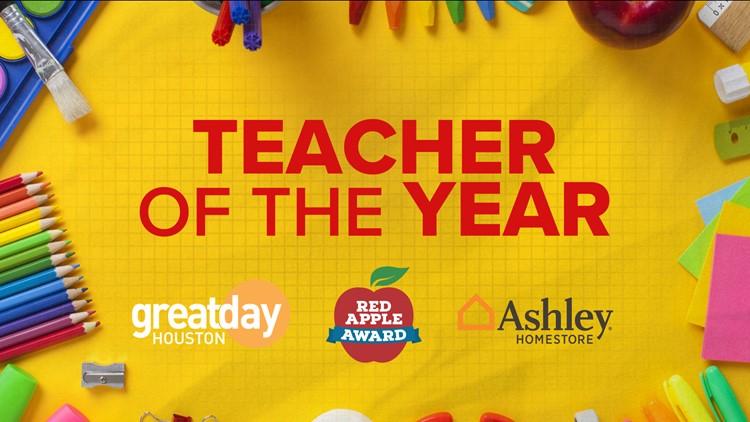 Ashley HomeStore Red Apple Teacher of the Year Award