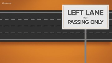 Left lane for passing only! It's the law!