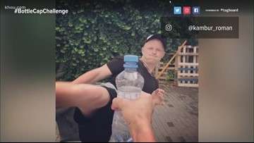 The 'Bottle Cap Challenge' kicks into high gear