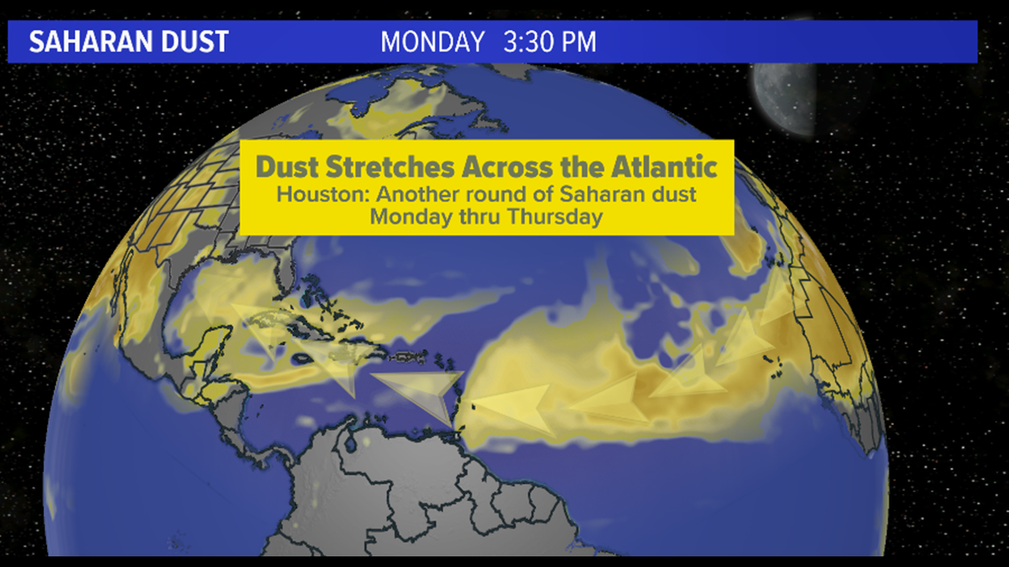 More African dust coming to Houston this week