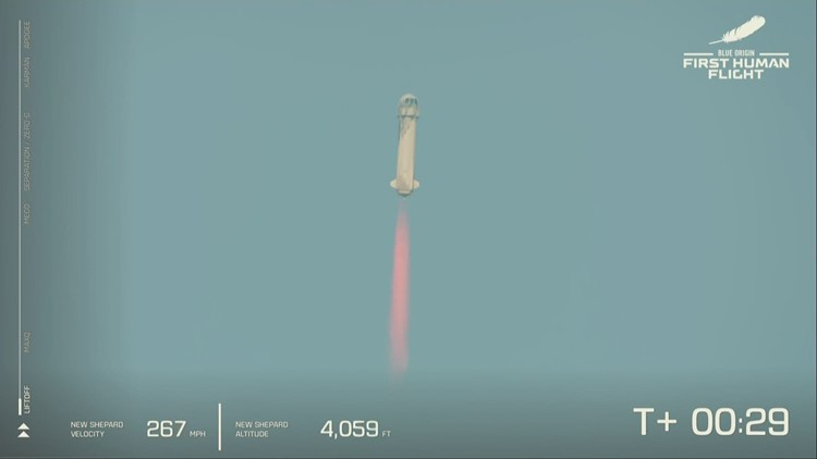 Watch: Blue Origin's New Shepard launches into space from West Texas