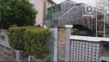 It took 20 years and 50,000 beer cans to finish this Houston home