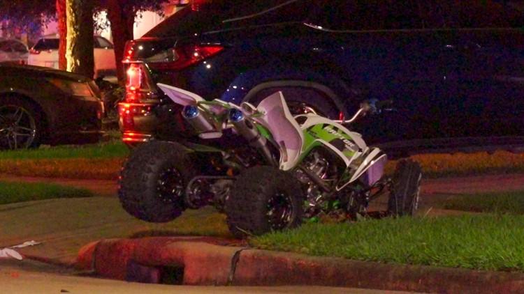 57-year-old man killed in ATV crash in northeast Houston neighborhood   Raw scene video