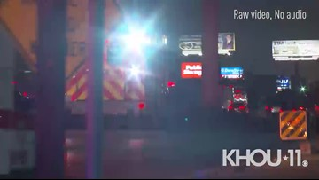 Raw: Investigation into hit-and-run incident on I-45 North in Houston