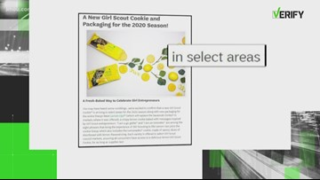VERIFY: New Lemon-Up Girl Scout cookies will not be sold in Houston