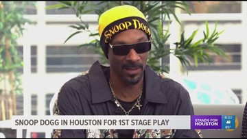 Snoop Dogg in Houston for first stage play