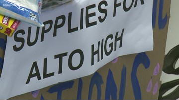 Kingwood HS students delivers donated school supplies to Alto students after east Texas tornado