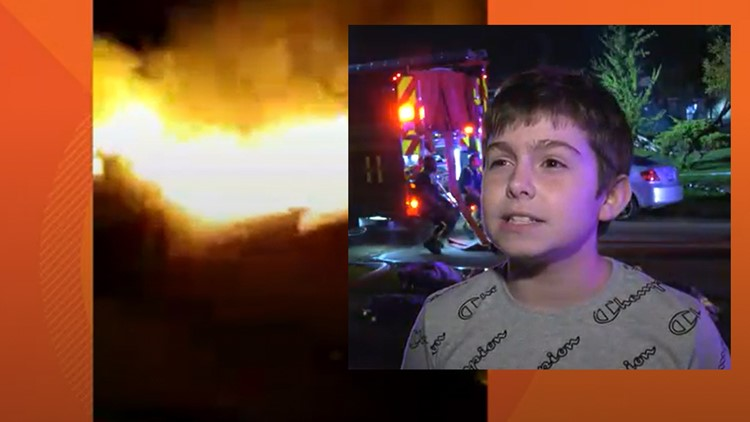 Boy alerts neighbors as fire spreads from one home to another in NW Harris County