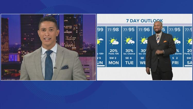 Houston Forecast: A blazing hot Sunday