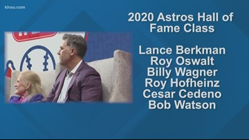 Six former players to be inducted in Astros Hall of Fame for 2020