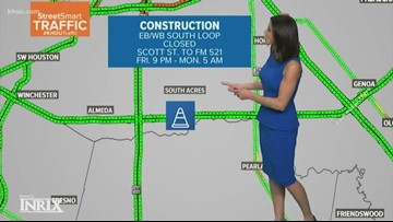 Construction on Texas 288 north, 610 South Loop to cause traffic delays