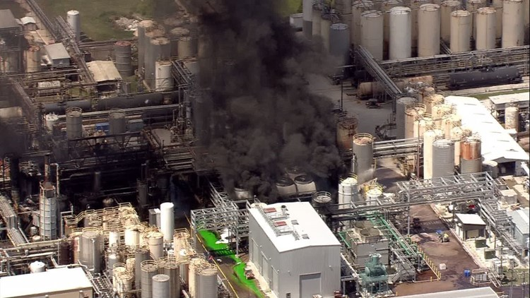 Chemical called isobutylene caused explosion, fire at Crosby chemical plant