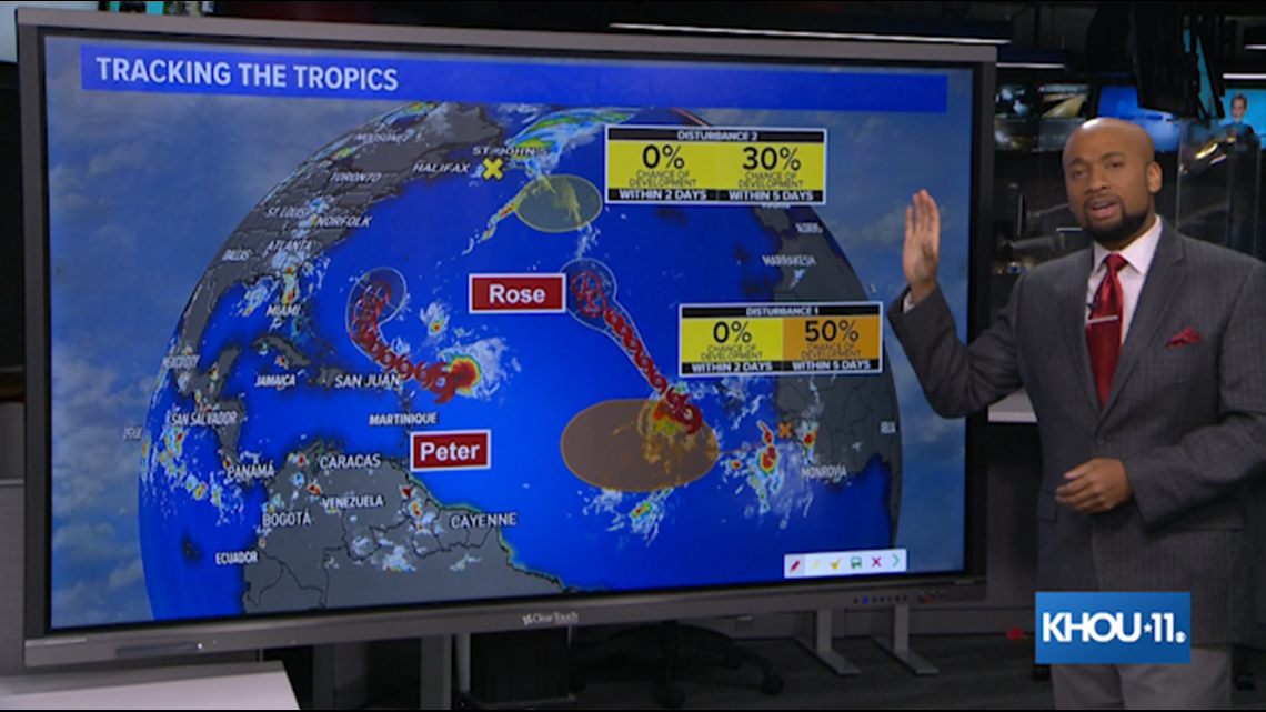 Tropical update: Tropical storms Peter, Rose