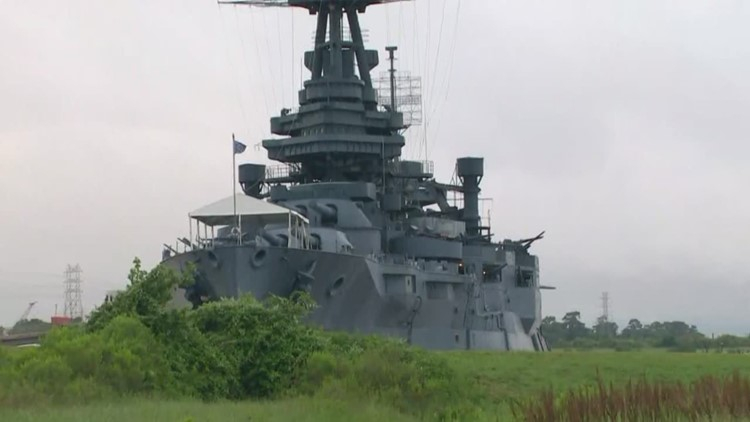 Commemoration at Battleship Texas among Houston D-Day 75th ...  Commemoration a...