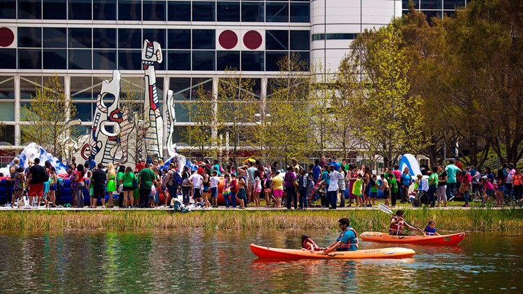 Discovery Green kayaks