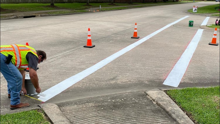 City of Pearland re-paints crosswalk where grandmother was hit, killed on her evening walk