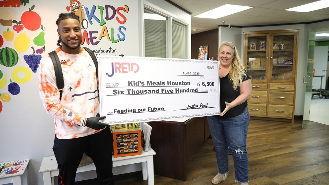 Texans' Justin Reid donates $6,500 to Kids' Meals Houston to help children affected by COVID-19 crisis