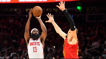 Rockets hold off Hawks, Harden posts another triple-double