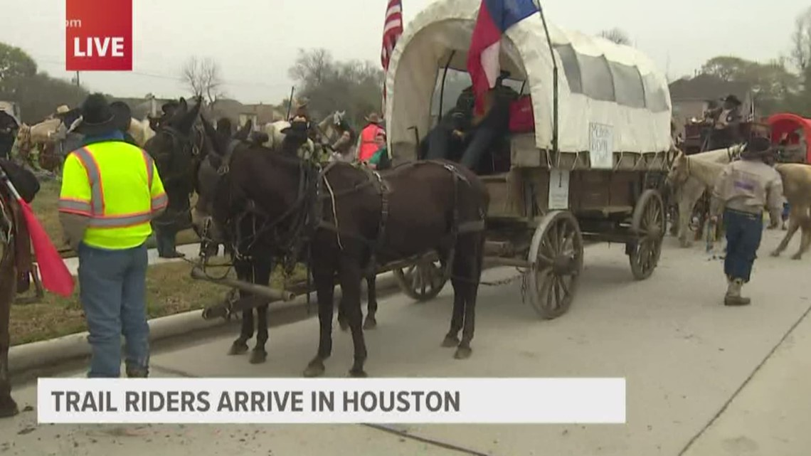 Trail riders arrive in Houston ahead of Rodeo