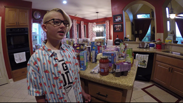 12-year-old Conroe boy provides food for classmates in need