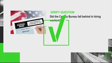 VERIFY: Has the Census really been 'plagued by delays' in hiring?