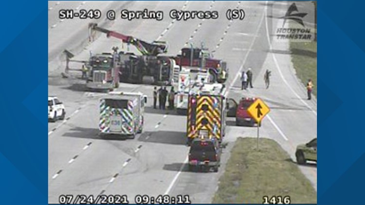 Tomball Parkway reopens near Spring Cypress Road after 18-wheeler crash