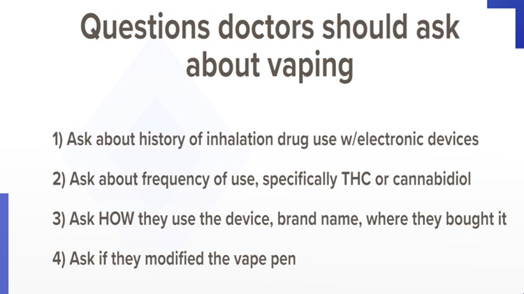 TCH doctor lists questions related to vaping