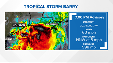 Tropical Storm Barry track: Interactive map and expected rainfall