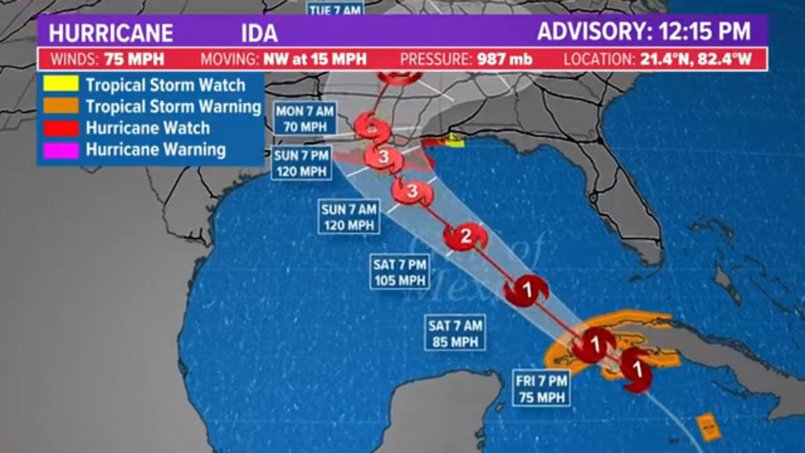 Hurricane Ida knocks oil output down by 91%; More than Hurricane Katrina