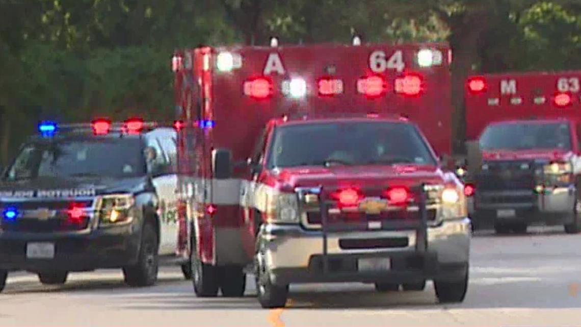 Officer injured in shooting arrives at Memorial Hermann hospital; 2nd officer arrived by Life Flight