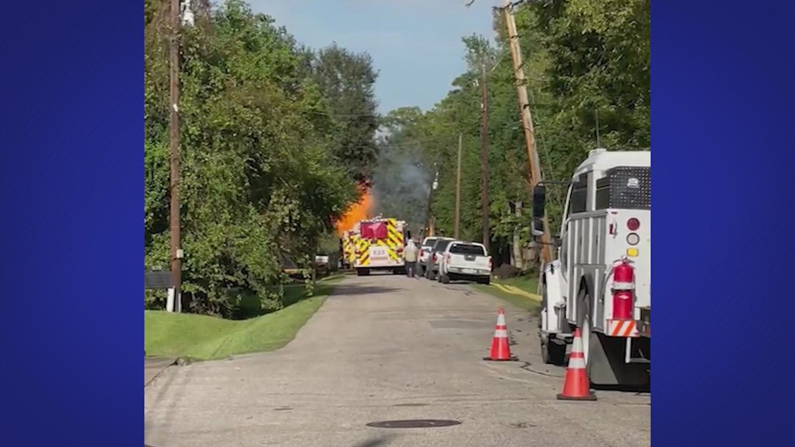 Some residents remain without power due to gas line fire in Friendswood