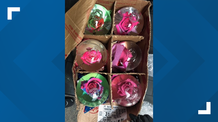 Rose globes filled with liquid meth found in Harris County