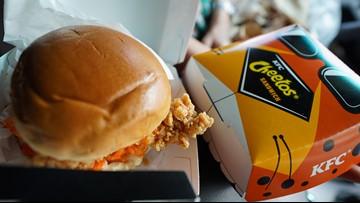 Taste testing the Cheetos Sandwich from KFC