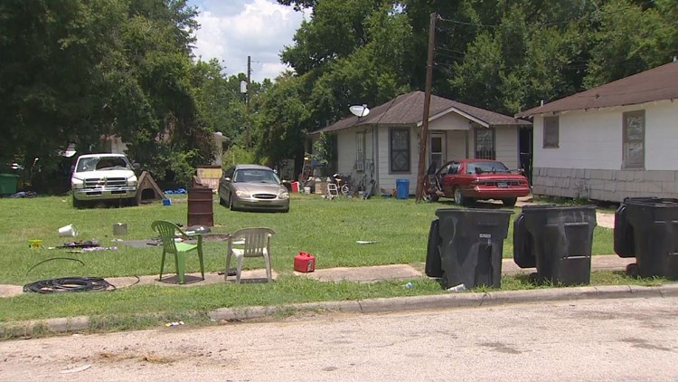 The property where Brittany Burfield's belongings were found by investigators on Thursday.
