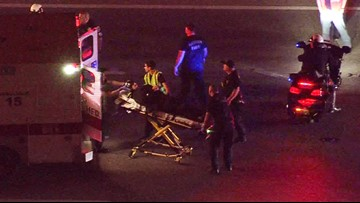 Good Samaritan stops traffic on I-45 when motorcycle officer crashes