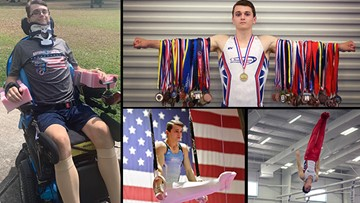 Katy gymnast fighting to overcome severe spinal cord injury #SaluteTheFight