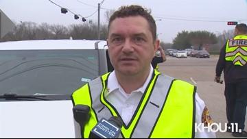 Raw Video: School bus broadsided by car on Highway 6, deputies say
