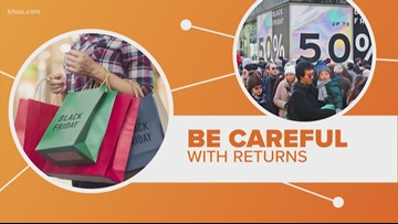 Too many returns could limit your future shopping options