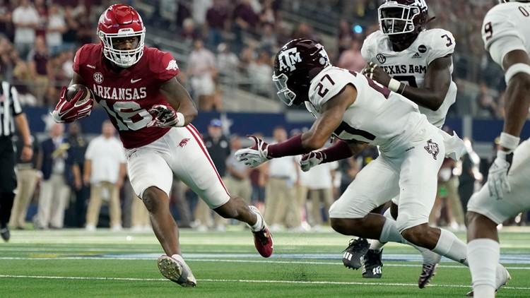 No. 16 Arkansas ends long skid to No. 7 Texas A&M